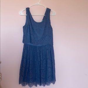blue lace skater dress from Francescas
